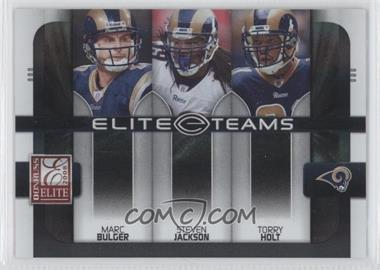 2008 Donruss Elite - Elite Teams - Black #ET-20 - Marc Bulger, Steven Jackson, Torry Holt /800