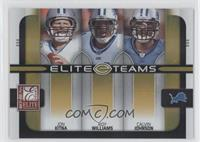 Jon Kitna, Roy Williams, Calvin Johnson #/200