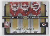 Larry Johnson, Tony Gonzalez, Dwayne Bowe #/200