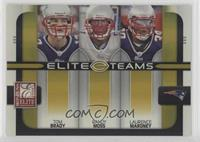 Tom Brady, Randy Moss, Laurence Maroney #/200