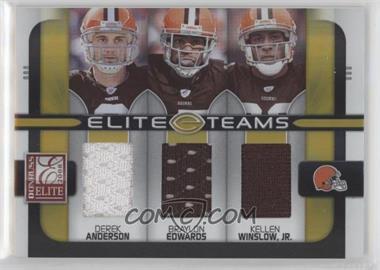 2008 Donruss Elite - Elite Teams - Jerseys [Memorabilia] #ET-11 - Braylon Edwards, Derek Anderson, Kellen Winslow Jr. /199