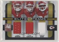 Larry Johnson, Tony Gonzalez, Dwayne Bowe [EX to NM] #/199