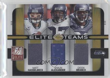 2008 Donruss Elite - Elite Teams - Jerseys [Memorabilia] #ET-19 - Deion Branch, Matt Hasselbeck, Shaun Alexander /199