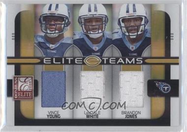 2008 Donruss Elite - Elite Teams - Jerseys [Memorabilia] #ET-21 - Brandon Jones, Vince Young, LenDale White /199
