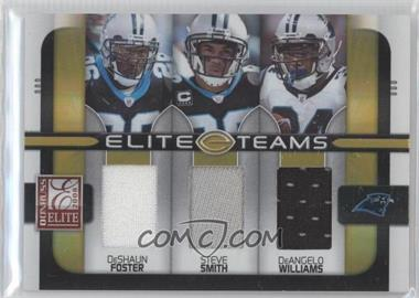 2008 Donruss Elite - Elite Teams - Jerseys [Memorabilia] #ET-24 - DeAngelo Williams, Steve Smith, DeShaun Foster /199