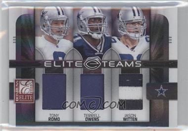 2008 Donruss Elite - Elite Teams - Jerseys Prime [Memorabilia] #ET-1 - Jason Witten, Terrell Owens, Tony Romo /50