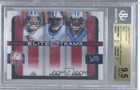 Calvin Johnson, Jon Kitna, Roy Williams /400 [BGS 9.5]