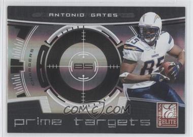 2008 Donruss Elite - Prime Targets - Black #PT-15 - Antonio Gates /400