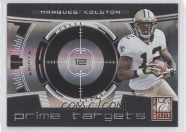 2008 Donruss Elite - Prime Targets - Black #PT-16 - Marques Colston /400