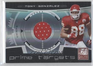 2008 Donruss Elite - Prime Targets - Jerseys [Memorabilia] #PT-12 - Tony Gonzalez /199
