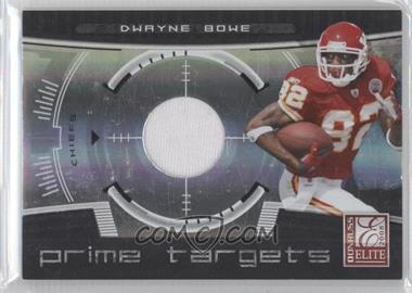 2008 Donruss Elite - Prime Targets - Jerseys [Memorabilia] #PT-20 - Dwayne Bowe /199