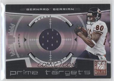2008 Donruss Elite - Prime Targets - Jerseys [Memorabilia] #PT-24 - Bernard Berrian /199