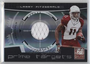 2008 Donruss Elite - Prime Targets - Jerseys [Memorabilia] #PT-5 - Larry Fitzgerald /199