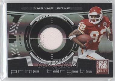 2008 Donruss Elite - Prime Targets - Jerseys Prime [Memorabilia] #PT-20 - Dwayne Bowe /50