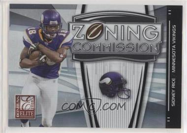 2008 Donruss Elite - Zoning Commission - Black #ZC-7 - Sidney Rice /400