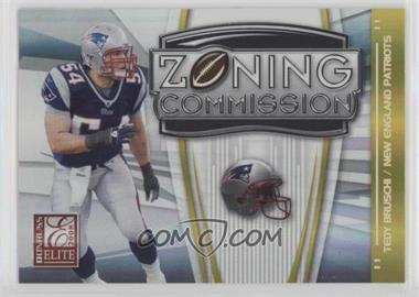2008 Donruss Elite - Zoning Commission - Gold #ZC-15 - Tedy Bruschi /800