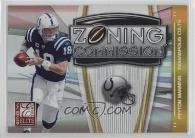 2008 Donruss Elite - Zoning Commission - Gold #ZC-2 - Peyton Manning /800