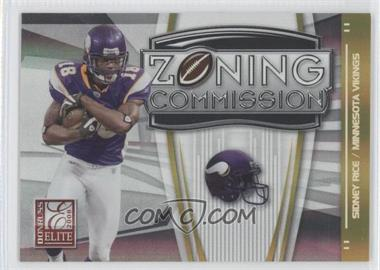 2008 Donruss Elite - Zoning Commission - Gold #ZC-7 - Sidney Rice /800