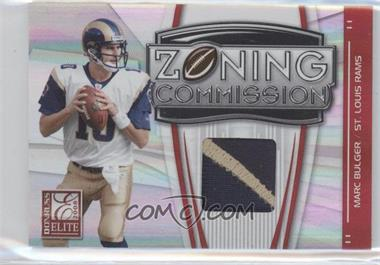 2008 Donruss Elite - Zoning Commission - Jerseys Prime [Memorabilia] #ZC-31 - Marc Bulger /50