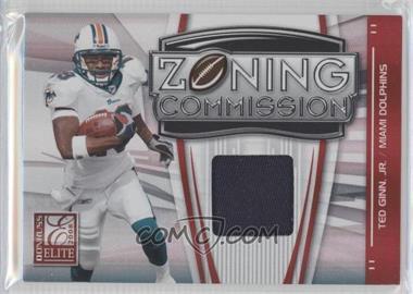 2008 Donruss Elite - Zoning Commission - Jerseys Prime [Memorabilia] #ZC-5 - Ted Ginn Jr. /50