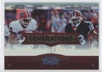Thurman Thomas, Marshawn Lynch /100