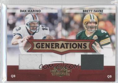 2008 Donruss Threads - Generations - Materials [Memorabilia] #G-3 - Dan Marino, Brett Favre /250