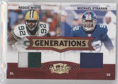 2008 Donruss Threads - Generations - Materials Prime [Memorabilia] #G-15 - Michael Strahan, Reggie White /50