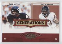 Gale Sayers, Devin Hester