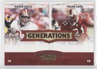 Roger Craig, Frank Gore