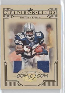 2008 Donruss Threads - Pro Gridiron Kings - Materials Prime #PGK-9 - Emmitt Smith /50