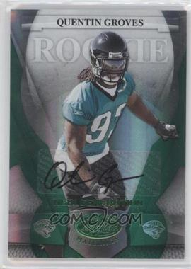 2008 Leaf Certified Materials - [Base] - Mirror Emerald Signatures [Autographed] #189 - Quentin Groves /5