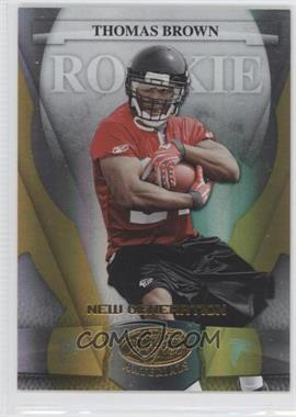 2008 Leaf Certified Materials - [Base] - Mirror Gold #196 - New Generation - Thomas Brown /25