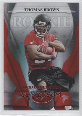 2008 Leaf Certified Materials - [Base] - Mirror Red #196 - New Generation - Thomas Brown /100