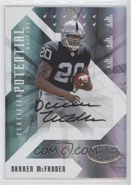 2008 Leaf Certified Materials - Certified Potential - Signatures [Autographed] #CP-1 - Darren McFadden /50