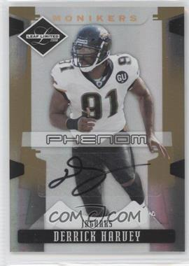 2008 Leaf Limited - [Base] - Monikers Gold [Autographed] #230 - Derrick Harvey /10