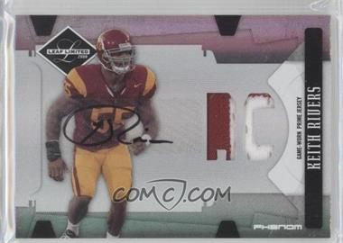 2008 Leaf Limited - [Base] - Phenoms College [Autographed] [Memorabilia] #255 - Keith Rivers /99
