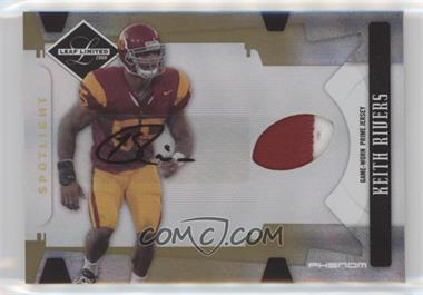 2008 Leaf Limited - [Base] - Phenoms College Spotlight Gold [Autographed] [Memorabilia] #255 - Keith Rivers /25