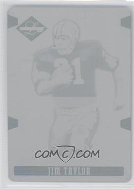 2008 Leaf Limited - [Base] - Printing Plate Cyan #144 - Jim Taylor /1