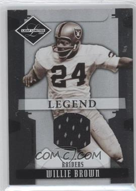 2008 Leaf Limited - [Base] - Threads [Memorabilia] #196 - Willie Brown /100