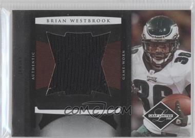 2008 Leaf Limited - Jumbo Jerseys #21 - Brian Westbrook /50