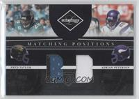 Adrian Peterson, Fred Taylor #/100
