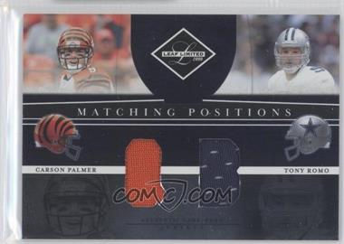 2008 Leaf Limited - Matching Positions #MP-4 - Carson Palmer, Tony Romo /100