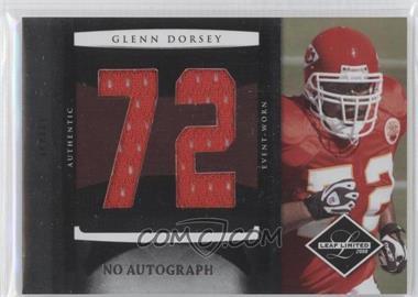 2008 Leaf Limited - Rookie Jumbo Jerseys - Jersey Number Signatures No Signature #18 - Glenn Dorsey /15