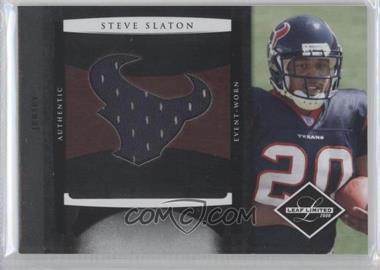 2008 Leaf Limited - Rookie Jumbo Jerseys - Team Logo #3 - Steve Slaton /50