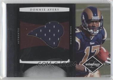 2008 Leaf Limited - Rookie Jumbo Jerseys - Team Logo #5 - Donnie Avery /50