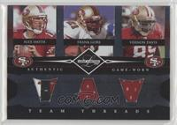 Frank Gore, Vernon Davis, Alex Smith #/100
