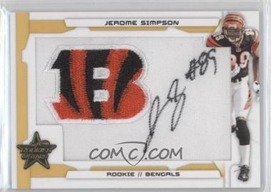 2008 Leaf Rookies & Stars - [Base] - SP Rookies Gold Patch Signatures [Autographed] #229 - Jerome Simpson /15
