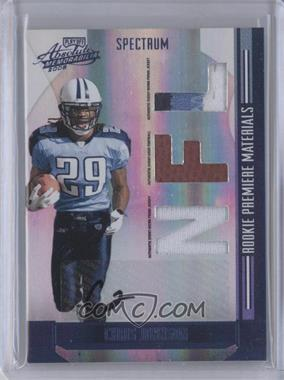 2008 Playoff Absolute Memorabilia - [Base] - Rookie Premiere Materials Spectrum Die-Cut NFL Prime Signatures [Autographed] [Memorabilia] #276 - Chris Johnson /10