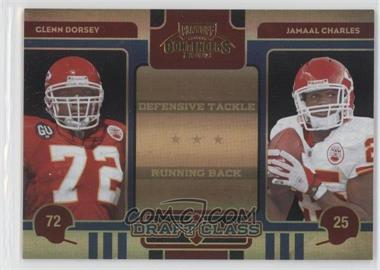 2008 Playoff Contenders - Draft Class - Black #19 - Glenn Dorsey, Jamaal Charles /50