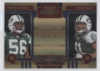2008 Playoff Contenders - Draft Class - Black #20 - Vernon Gholston, Dustin Keller /50